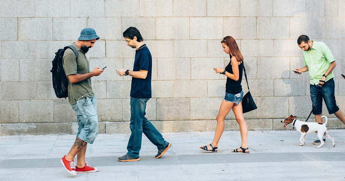 Do you look at your mobile phone while walking?