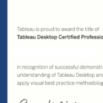 The Tableau Desktop Certified Professional Exam Experience