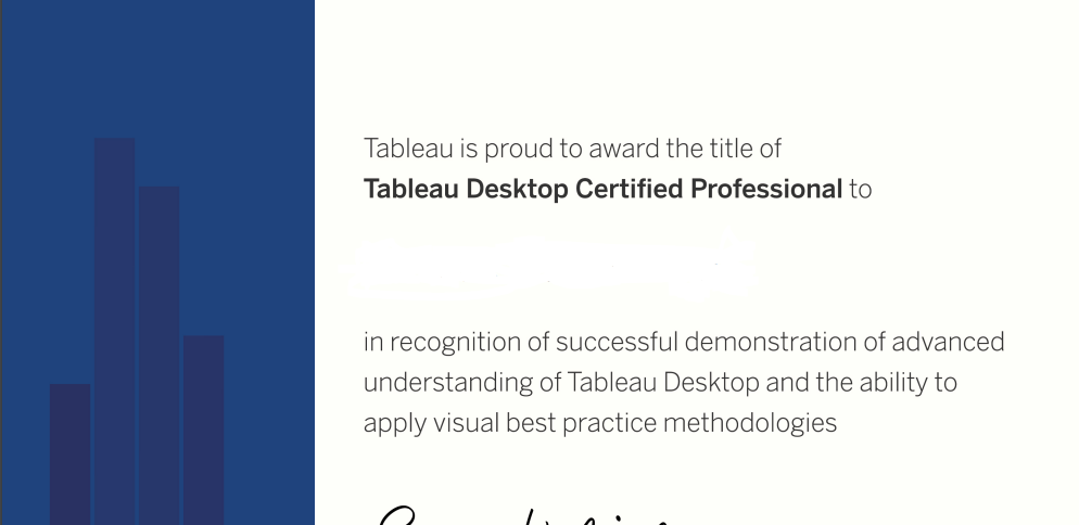 The Tableau Desktop Certified Professional Exam Experience | POINTS